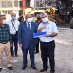 BAŞKAN ALBAYRAK ÇORLU'DA HİZMET VE PROJELERİ İNCELEDİ